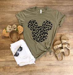 Minnie Cheetah Tee Mouse Leopard Shirt Animal Kingdom Shirt Women Disney Shirt Adult Disney Shirt Disney World Shirt Disneyland - Vinyl Shirt - Ideas of Vinyl Shirt - Cute Disney Outfits, Disney World Outfits, Disney World Vacation, Disney Trips, Walt Disney World, Disneyland Outfits, Disney Disney, Disney Vacation Outfits, Disney Clothes