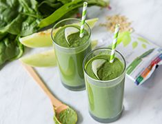 Shop local. Support your Farmer's Market and make a Vega One smoothie with all the fresh local bounty—possibly hydrating spinach, cucumber and melon.