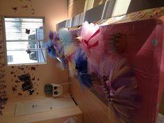 Handmade Disney princess tutus. Tutu color is according to each princess. Every girl got a tutu instead of a goodie bag.