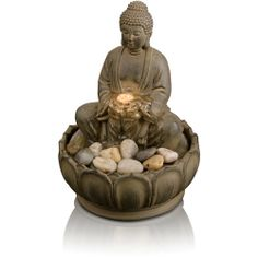 HoMedics EnviraScape Buddha Illuminated Relaxation Fountain - At Walmart for $19.97