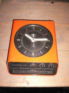 70s vintage clock radio