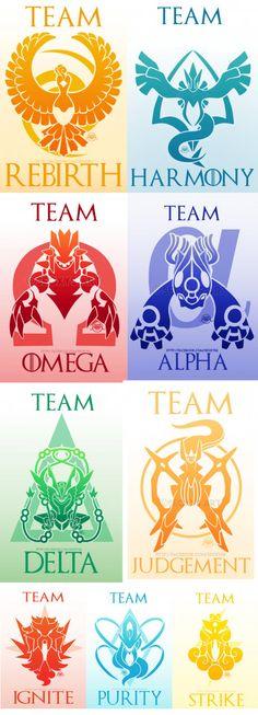 Alternate pokemon go teams by seoxys6