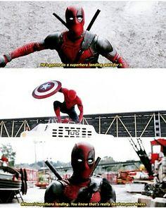 Deadpool Spiderman captain America civil war