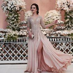 vestido de festa bordado para madrinha ou formanda