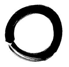 Zen symbol of enlightenment, the energy  comes home.