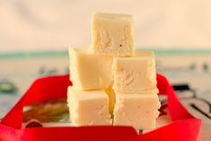 There's no way you'll be able to pass up this recipe for Smooth Eggnog Fudge. You'll love this rich and creamy homemade fudge recipe because it has such a wonderful Christmas flavor. Christmas Desserts, Holiday Treats, Holiday Recipes, Christmas Recipes, Christmas Treats, Christmas Cookies, Christmas Candy, Holiday Foods, Winter Recipes