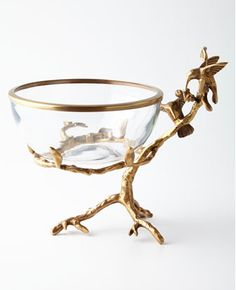 Brass+&+Glass+Decorative+Bowl+by+John-Richard+Collection+at+Horchow. Home Decor Accessories, Decorative Accessories, Decorative Items, Decorative Bowls, Accent Decor, Neiman Marcus, Design, Serveware, Tableware