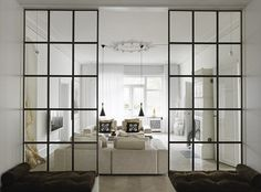 Internal steel frame glazed doors
