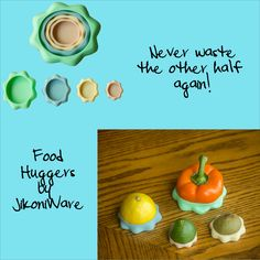 Cool Star Shaped Food Huggers Save your fruits and veggies.  http://blog.jikoniware.com/food-huggers