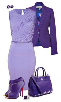 A fashion look from February 2014 featuring Blumarine dresses, Paul Smith blazers y Christian Louboutin ankle booties. Browse and shop related looks. Diva Fashion, Work Fashion, Fashion Looks, Fashion Outfits, Womens Fashion, Purple Outfits, Colourful Outfits, Business Fashion, Business Style