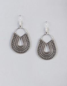 Silver Anusuya ES 2114 Dangle Earrings Metal Jewelry, Dangle Earrings, Hand Weaving, Dangles, Jewelry Design, Unique, Silver, Shopping, Accessories