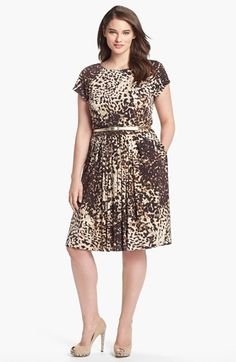 Eliza J Print Jersey Fit & Flare Dress (Plus Size) available at #Nordstrom