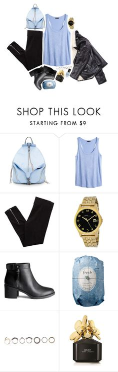 """""""Untitled #255"""" by slowsnower ❤ liked on Polyvore featuring Rebecca Minkoff, H&M, Aerie, Marc by Marc Jacobs, Fresh, Iosselliani, Marc Jacobs and Deborah Lippmann"""