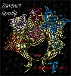 Summer Beauty Rhinestone Design MST