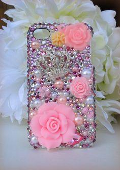 Fabulous handmade bling rhinestone iphone 4 case shades of p Iphone Cases Bling, Iphone 4, Teen Pink, Disney Designs, Printable Stickers, Pretty In Pink, Sagittarius, Floral, Handmade