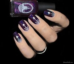 How to: Spiderweb nail art for Halloween