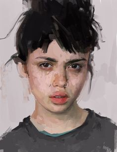 digital portrait of a girl