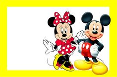 Minnie and Mickey in Red: Free Printable Birthday Invitations. - Oh My Fiesta! in english Mickey Mouse E Amigos, Mickey Party, Mickey Mouse And Friends, Mickey Minnie Mouse, Walt Disney, Disney Magic, Scrapbook Da Disney, Beatles Party, Disney Frames