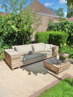 Exclusieve tuinbank van Steigerhout-hetgooi