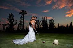 Clovis, CA, wedding, bride, groom, Copper River, Golf, mermaid dress,