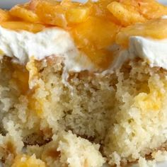 If you love poke cakes then you must try this peaches and cream poke cake! French vanilla cake soaked in fresh peaches, frosted with a light and fluffy cream cheese whipped topping, and topped with chunked fresh peaches. Poke Cakes, Cupcake Cakes, Cupcakes, Cake Cookies, Peach Cake Recipes, Poke Cake Recipes, Poke Recipe, French Vanilla Cake, Vanilla Cake Mixes
