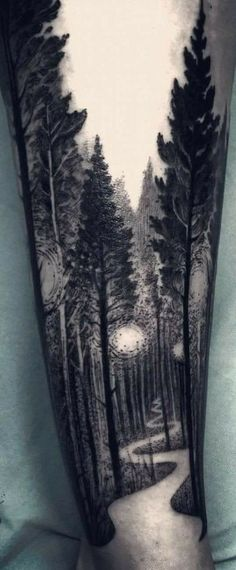 Hermoso Wolf Tattoos, Leg Tattoos, Girl Tattoos, Sleeve Tattoos, Tattoos For Guys, Daddy Daughter Tattoos, Father Tattoos, Tattoos For Daughters, Tree Leg Tattoo