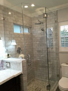 Neo-angled showers are great for tight spaces