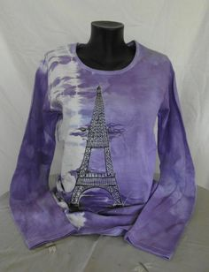 Hand painted and tie dyed violet purple women by KLcraftshop