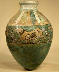 Jar with frieze of bulls.    Iron Age III  8th–7th century B.C.  Iran, said to be from Ziwiye
