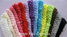 "Pick Two - 1.5"" Crochet Headband by PurpleFairyCreations on Etsy, $1.95"