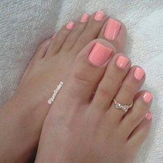 Fall Toe Nails, Pink Toe Nails, Pretty Toe Nails, Toe Nail Color, Cute Toe Nails, Pink Toes, Feet Nails, Pretty Toes, Toe Nail Art