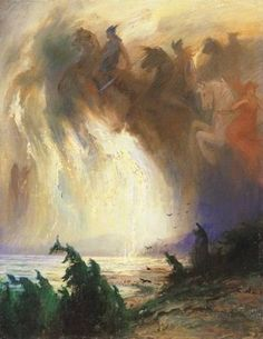 Hermann Hendrich (1854-1931), The Ride of the Valkyries