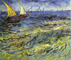 Sailing boats, 1888, oil on canvas