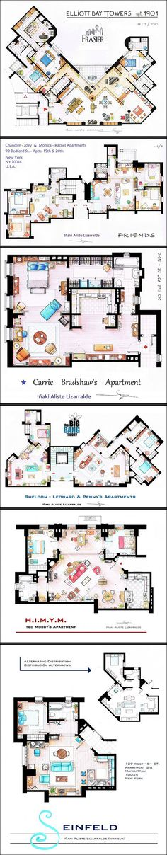 Dump A Day Floor Plans To Some Of Your Favorite T.V. Shows - 6 Pics