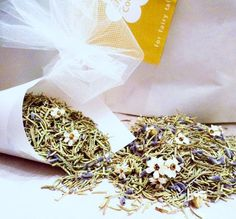 WEDDING HERBS Biodegradable Confetti for by Flowerfetti on Etsy. I love this idea but could easily put it together myself instead of paying $30!