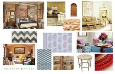 """Brittany Stiles: Why the mood board matters.  """"I love mixing and matching, but that can also leave room to get off track and lose site of our aesthetic. The mood board acts as a thesis statement and as long as everything going in to the space references a color, pattern, texture, style, or feeling of the thesis statement, the home will have purpose and cohesion without being too contrived."""""""
