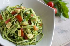 Courgetti (zoodles) with pesto - a wonderful gluten-free pasta alternative that's super quick to make and fun for little fingers to discover Pasta Alternative, Zucchini, Baby Finger Foods, Homemade Pesto, Pesto Recipe, Baby Led Weaning, Baby Food Recipes, Green Beans, Cabbage