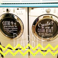 """Acquire terrific suggestions on """"laundry room stackable washer and dryer"""". They are actually readily available for you on our internet site. Laundry Room Bathroom, Farmhouse Laundry Room, Laundry Room Storage, Laundry Room Design, Storage Room, Laundry Shop, French Home Decor, Vinyl Projects, Silhouette Projects"""