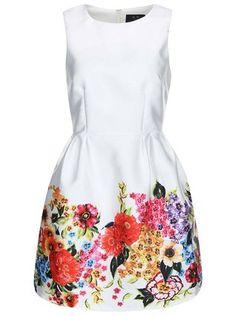 AX Paris - Krémové šaty s květinovým potiskem - 1