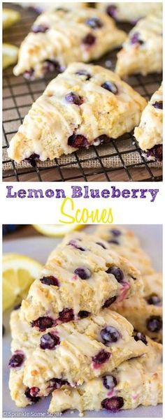 Lemon Blueberry Scones. Pretty much Summer in a tasty little treat! Such bright and fresh flavors.