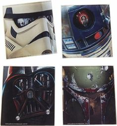 Star Wars - 4 Piece Glass Coasters Set · The Smoking Crab · Online Store Powered by Storenvy