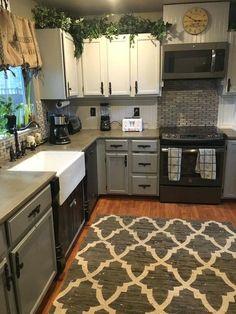 Single Wide Mobile Home Kitchen Remodel Ideas Older #mobilehomekitchens