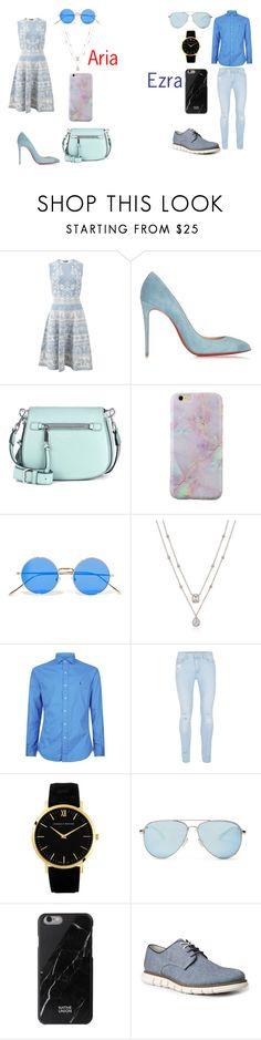 """""""Ezria"""" by caitlinkansil on Polyvore featuring Alexander McQueen, Christian Louboutin, Marc Jacobs, Illesteva, Polo Ralph Lauren, Topman, Larsson & Jennings, TOMS, Native Union and GBX"""