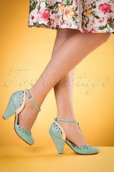 b532aefd81ea Bettie Page Shoes Elsie T strap Blue 401 30 17095 04132016 004retouchedW T  Strap Shoes