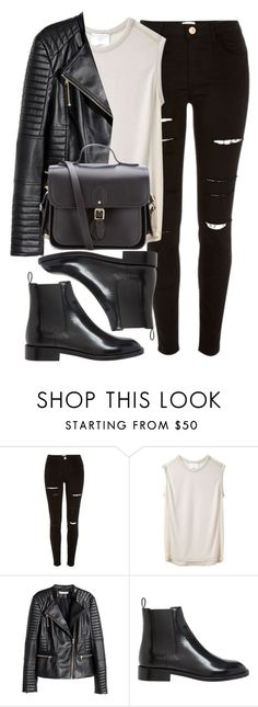 """Style #11669"" by vany-alvarado ❤ liked on Polyvore featuring River Island, 3.1 Phillip Lim, H&M, Yves Saint Laurent and The Cambridge Satchel Company"