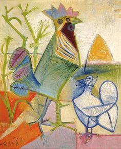 Pablo Picasso (Spanish, 1881–1973) The Cock of the Liberation (Le Coq de la Liberation), 1944 (via (1) Michelle / Pinterest)