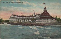 Hotel Coronado California 1930's postcard. Hagins collection.