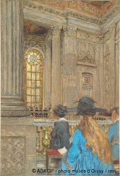 Edouard Vuillard, La Chapelle du Chateau de Versailles-(1917), Musee d'Orsay, Paris