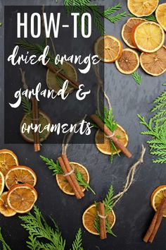 Full tutorial on how to cook the oranges, and how to string them into an orange garland or make orange ornaments! Every question is covered in this complete orange garland tutorial! #orangegarland #dryingoranges