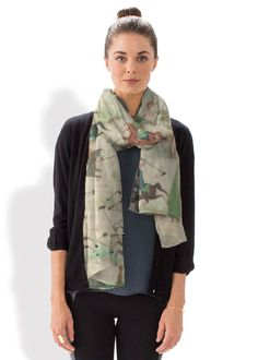 Bring art to life with this beautiful Scarf designed by VIDA Voices' very own Digital Circus #shopvida #vidavoices